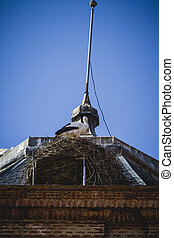 Roof, Spanish town of Alcala de Henares, palaces and ancient...