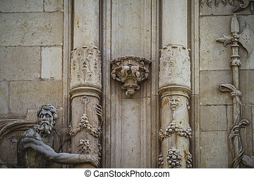 Spanish town of Alcala de Henares, palaces and ancient...