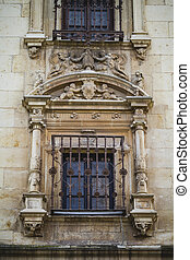 Iron window, Spanish town of Alcala de Henares, palaces and...