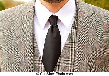 Tweed Plaid Wedding Suit - Wedding day suit worn by the...