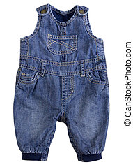 Jean jumpsuit isolated.