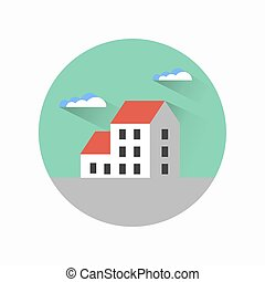 Flat city urban style - A flat city of urban style houses...