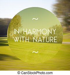 In harmony with nature poster illustration of natural life