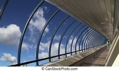 Footbridge Bagration at the Moscow City Business Centre,...