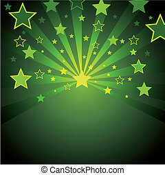 green background with stars
