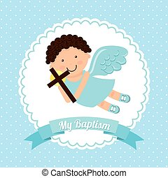 baptism invitation design, vector illustration eps10 graphic...