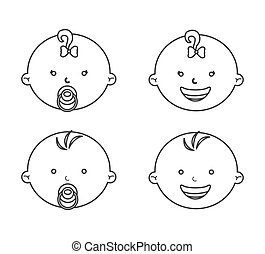 baby face design, vector illustration eps10 graphic