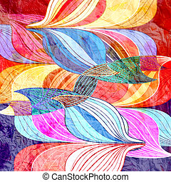 abstract a background - watercolor a retro background of...
