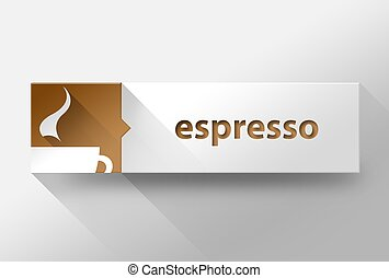 3d Espresso coffee flat design, illustration