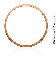 Wooden Gymnastic Hoop Rolling - Gymnastic hoop with wood...