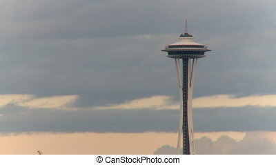 Seattle Space Needle - time lapse 3 of 3
