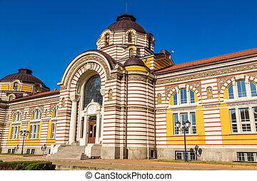 Bath house in Sofia, Bulgaria - Central public mineral bath...
