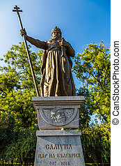 Monument of King Samuil in Sofia, Bulgaria in a summer day