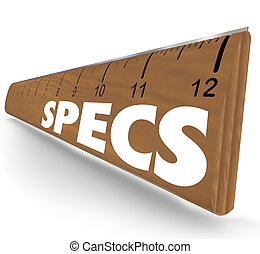 Specs Word Ruler Specifications Requirements Instructions