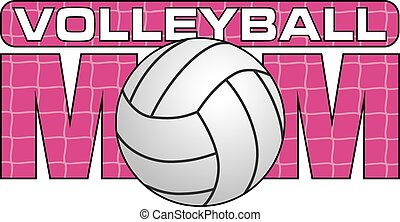 Volleyball Mom is an illustration of a design for Volleyball...