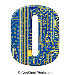 One letter from the electronic technology circuit board...