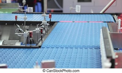 Conveyor Belt - Shipping Box at Conveyor Belt in...