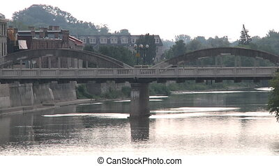 Main Bridge and Grand River - Cambridge, Ontario Canada