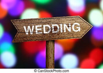 Wedding Ahead Road Sign