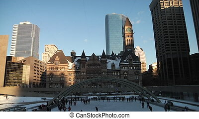 Scating Rink - Nathan Phillips Square Ice Skating, Toronto,...