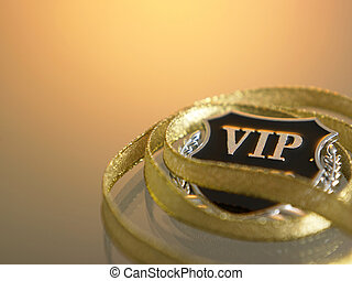 vip badge and the golden ribbon
