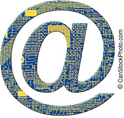One symbol from the electronic technology circuit board...