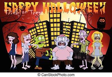 Zombie In The City, Happy Halloween