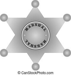 US Marshal - The star of the US Marshal. Vector...