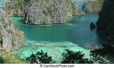 Lagoon at Coron island , Philippines - Lagoon at Kayangan...