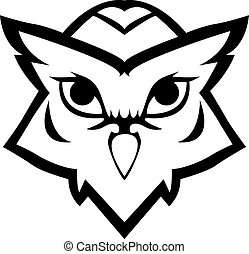 Owl symbol illustration design