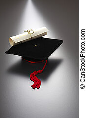 mini mortar board - education concept of mini mortar board