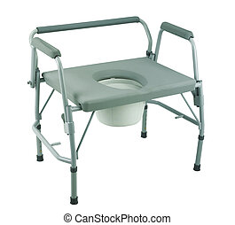 Commode chair - commode  chair with clipping path