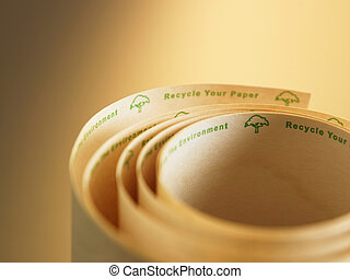 recycle adding machine tape - rolled up recycle adding...
