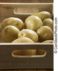 tray of potatoes