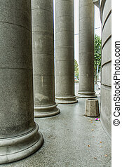 columns - old building at the entrance standing columns