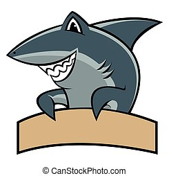 Shark cartoon mascot