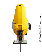 new professional jig saw on a white background - new...
