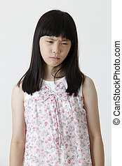 sad face - chinese girl with sad expression