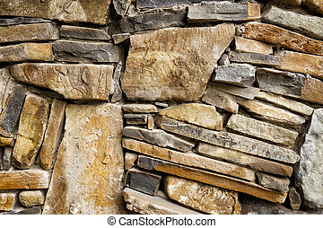 Background of exactly hewn stone bonded with cement