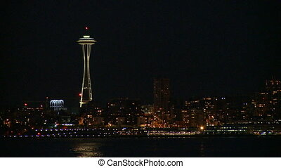 Seattles Space Needle early evening 2 of 4