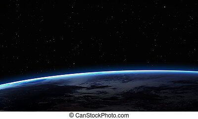 High resolution image of Earth in space. Elements furnished...