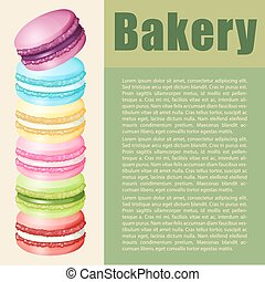 Infographic with text and macaron illustration