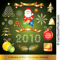 New Year design elements