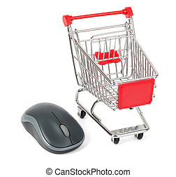 Computer mouse with shopping cart