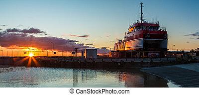 Foxton Beach Wharf Boat