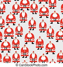 Santa Claus seamless pattern. Christmas background. Ornament...