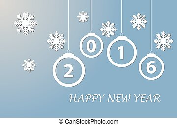 Happy new year card in blue color