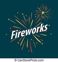 vector logo for traditional fireworks festival