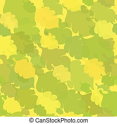Green-Yellow Seamless with Oak Leaves - Green-Yellow...