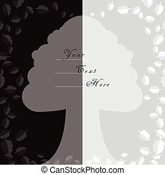 Oak Tree Style Background for Cards with Space in the Center...